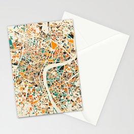 London Mosaic Map #4 Stationery Cards