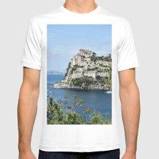 Aragonese Castle - Ischia Mens Fitted Tee MEDIUM White