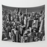 chicago Wall Tapestries featuring Chicago by Claude Gariepy