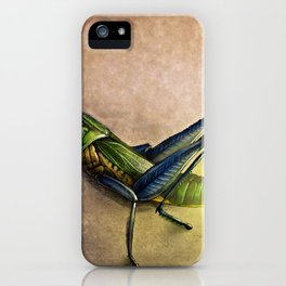 The Firefly and the Grasshopper iPhone Case