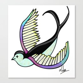 Black swallow odl school Canvas Print