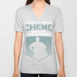 Funny Cancer Hoping Chemo Gives Me Superpowers Design design product Unisex V-Neck