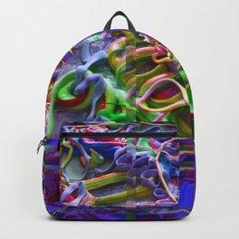 Alien Puke Glitch Backpack