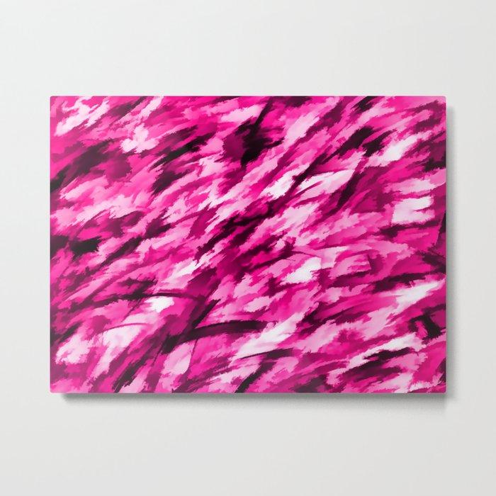 Designer Camo in Hot Pink Metal Print