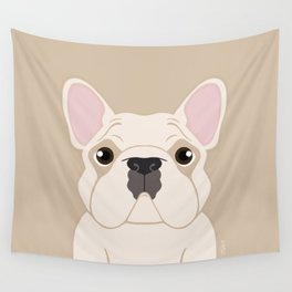 Frenchie - Cream Wall Tapestry