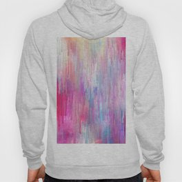 Colorful Abstract Paint Cascade Design Hoody