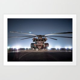 Navy CH-53 Super Stallion Art Print