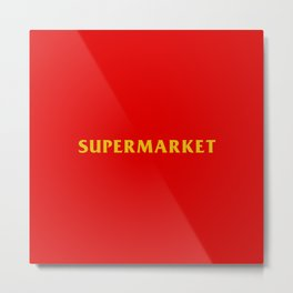logic supermarket Metal Print