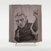 steve rogers Shower Curtains featuring Steve by chadizms