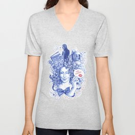 Every Curl Is A Spoiler Unisex V-Neck