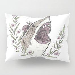 Floral Shark Pillow Sham