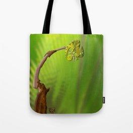 Leaf Chameleon Tote Bag