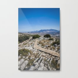 Empty path Metal Print