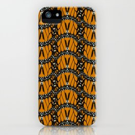 Monarch Butterfly Wings Abstract Patterned Print iPhone Case