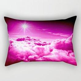 fuchsia clouds Rectangular Pillow