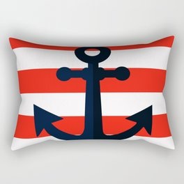 Simple anchor on red Rectangular Pillow