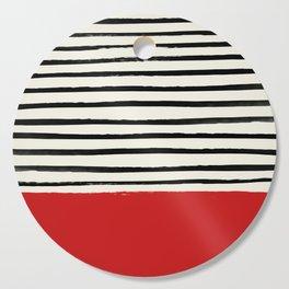 Red Chili x Stripes Cutting Board