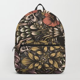 Tiger and flowers Backpack
