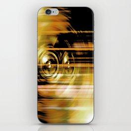 Gold music speakers iPhone Skin