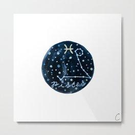Pisces Zodiac Astrology Design Metal Print