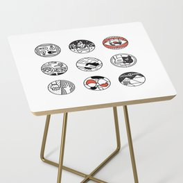 blurry icons Side Table
