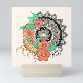 Scorpio Mandala Mini Art Print