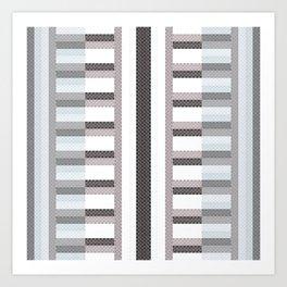 Stripe Geometric Art Print