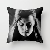 sin city Throw Pillows featuring Sin City by ClaM