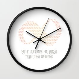 Some infinities are bigger than other infinities Wall Clock