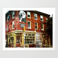 cafe Art Prints featuring Cafe by Kinseysmom