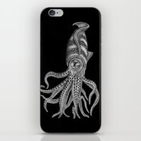 squid iPhone & iPod Skins featuring Squid by Tim Jeffs Art