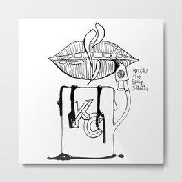 Caffeine is Fuel - Kansas City Metal Print