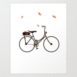 Cycling cartoon poster Art Print