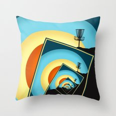 Spinning Disc Golf Baskets 1 Throw Pillow