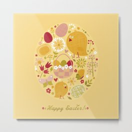 Easter (Yellow) Metal Print