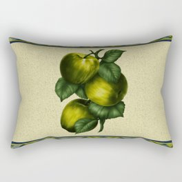 Painted Green Apples Rectangular Pillow