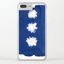 Poppies II - Cyanotype Clear iPhone Case