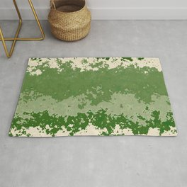 Tones of Green Abstract Lines Rug