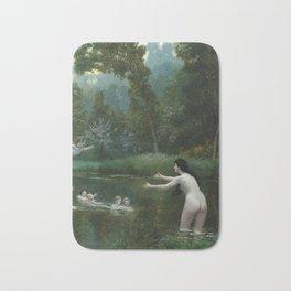 LEDA AND THE SWAN - JEAN-LEON GEROME Bath Mat