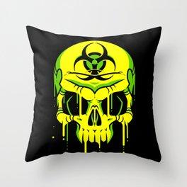 Toxic Melt Throw Pillow