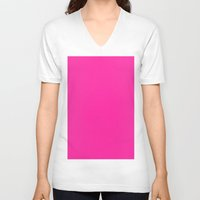 persian V-neck T-shirts featuring Persian rose by List of colors