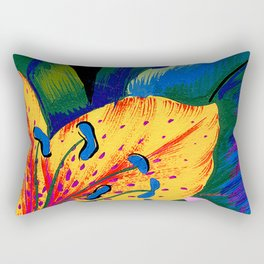Let's Go Abstract Rectangular Pillow