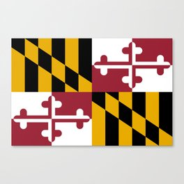 Flag of Maryland, High Quality image Canvas Print