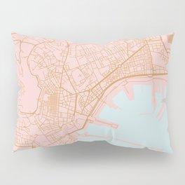 Napoli map Italy Pillow Sham