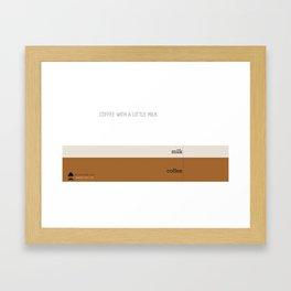 Coffee with a little milk Framed Art Print
