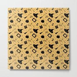 Magic symbols (yellow) Metal Print