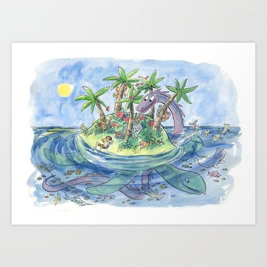 I'm On An Island Art Print