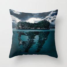 Mysterious Ocean Throw Pillow