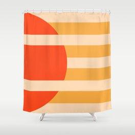 GEOMETRY ORANGE I Shower Curtain
