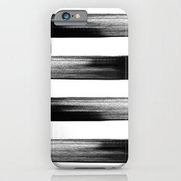 Japanese calligraphy stroke stripe -Zen style, black and white iPhone Case